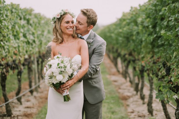 Whitney Laden weds Tyler Eshleman at Newport Vineyards